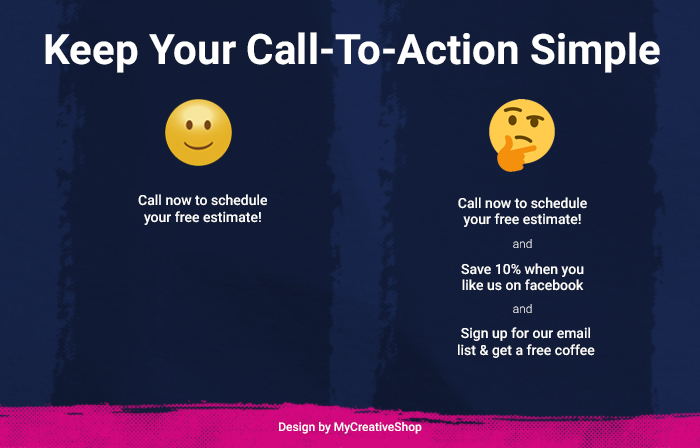 keep your call-to-action simple