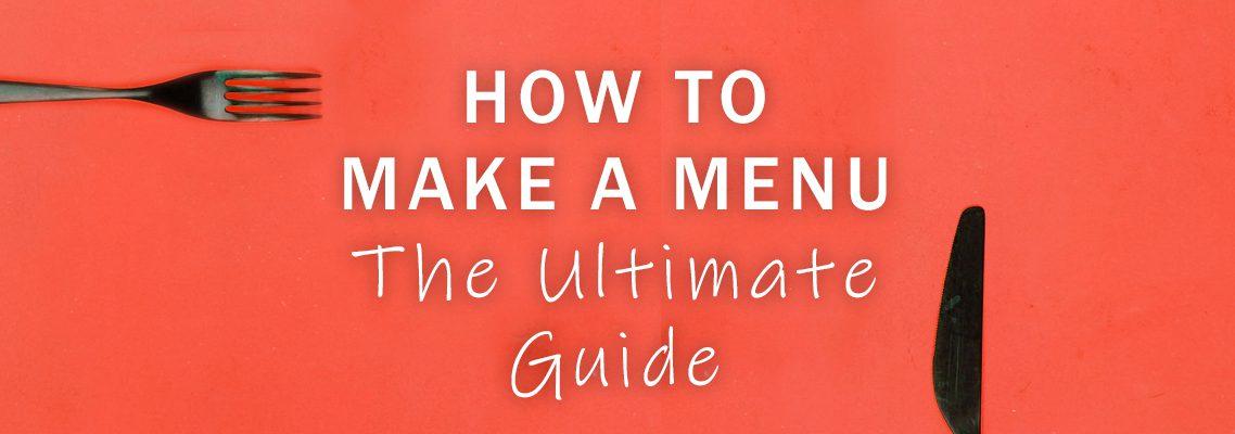 how to make a menu