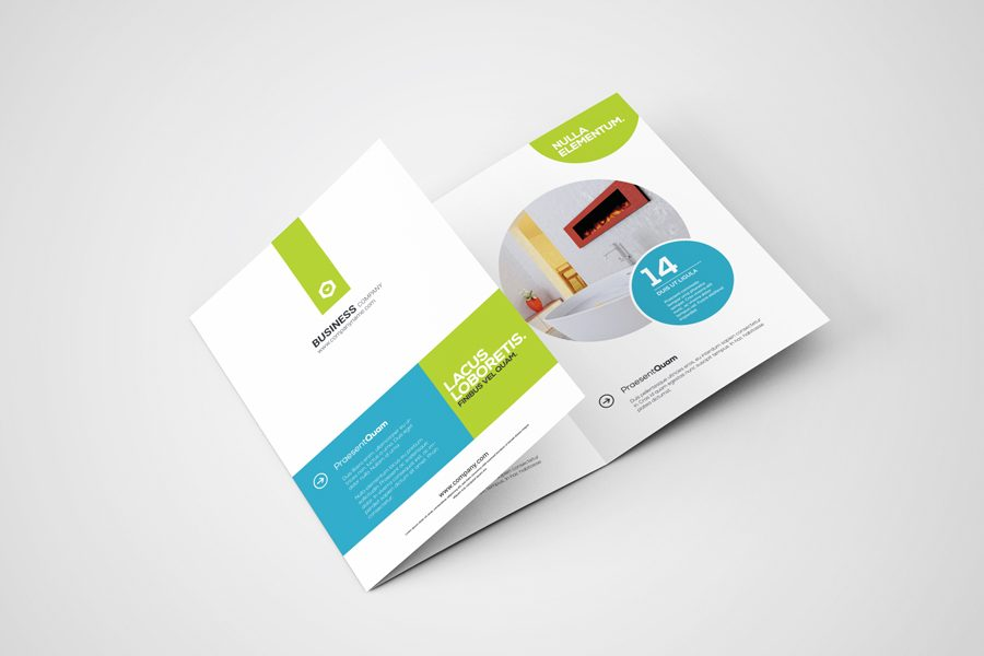 minimalistically modern brochure