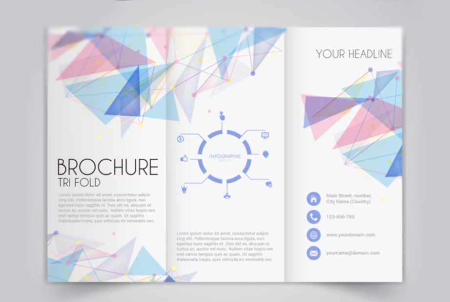 noticeably distinct geometric brochure