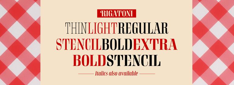 Rigatoni Font