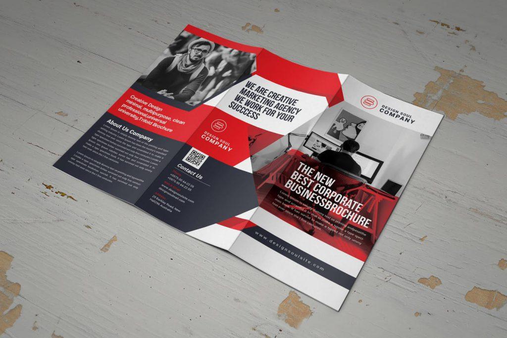 visually interesting brochure