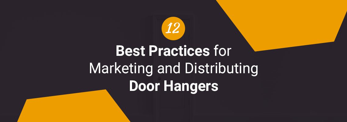 marketing and distributing door hangers