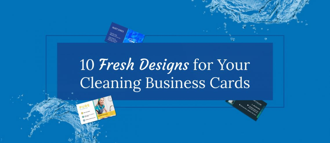 10 fresh cleaning business cards