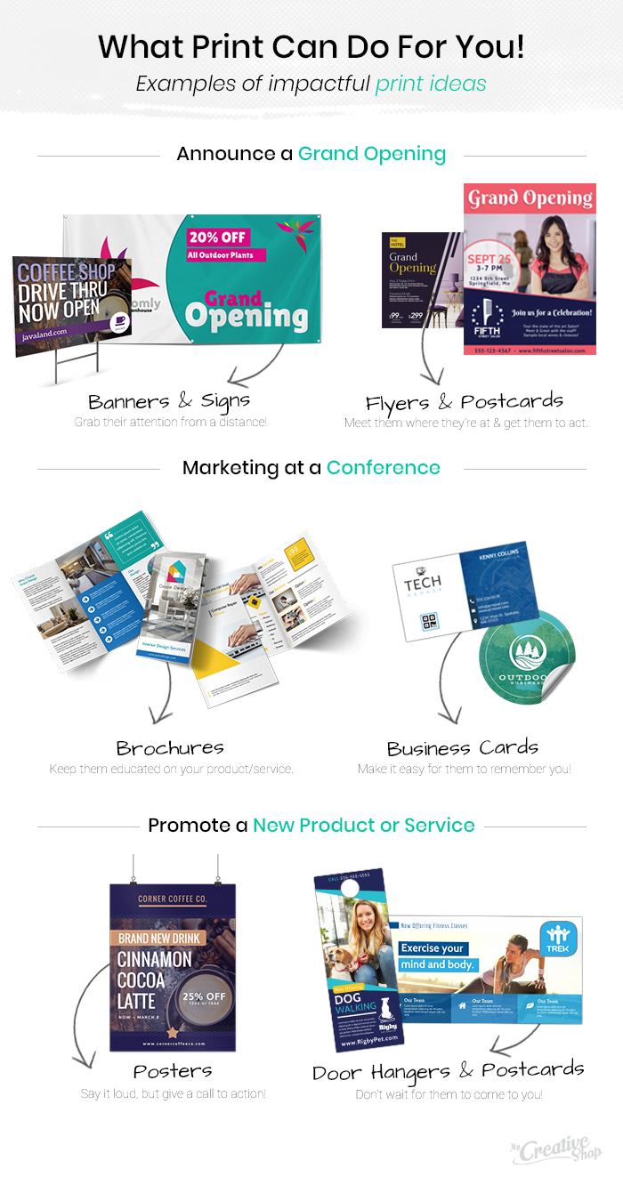 Examples of impactful print ideas