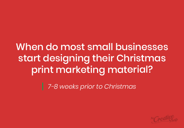 Small Business Christmas Print Schedule