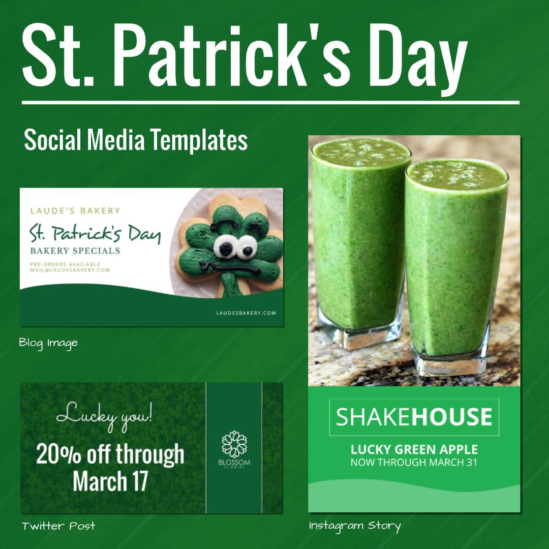 Saint Patricks Day Social Media Templates