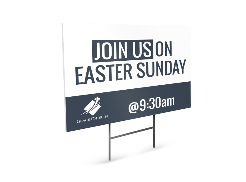 Church Easter Sunday Yard Sign