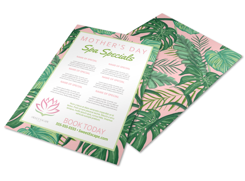 Mother's Day Floral Flyer