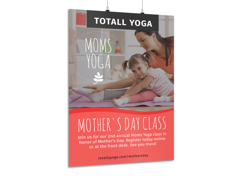 Mother's Day Yoga Poster