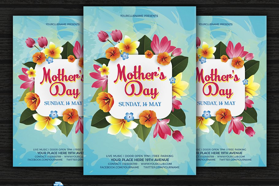 Mother's Day Tropical Design