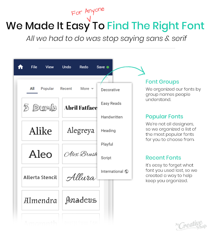 How we made it easy to find a font