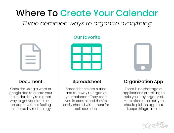 Where to create your marketing calendar