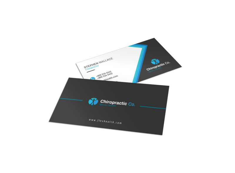 Chiropractor Trade Show Business Card