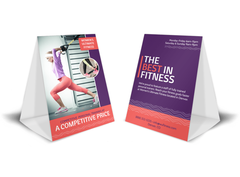 Trade Show Fitness Table Tent