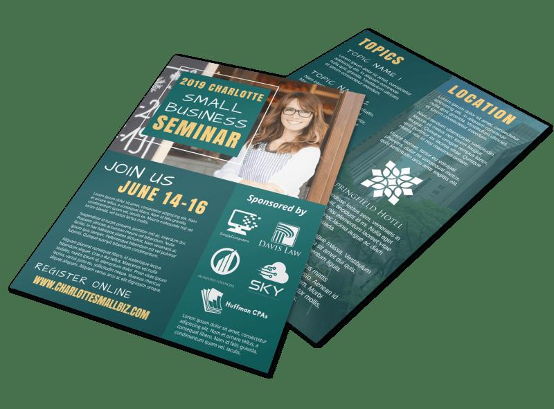Trade Show Seminar Flyer