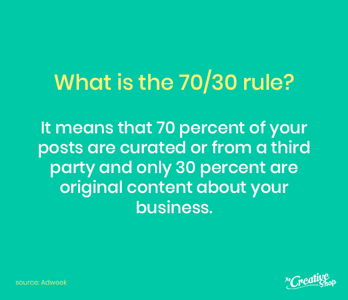 What is the 70/30 rule?