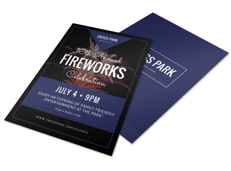 4th Of July Text Flyer