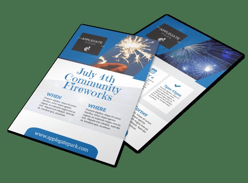 4th Of July Sparkler Flyer