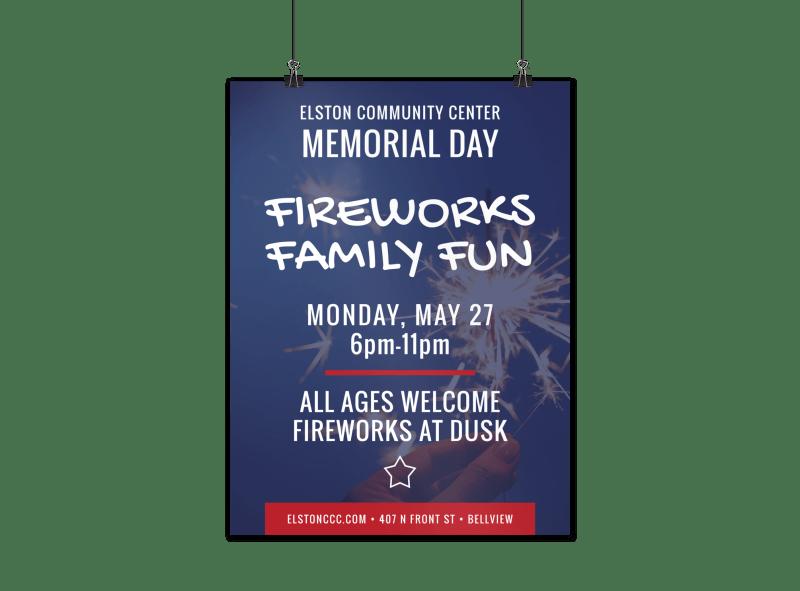 Fireworks Poster Flyer Inspiration