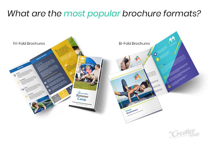 Most popular brochure formats