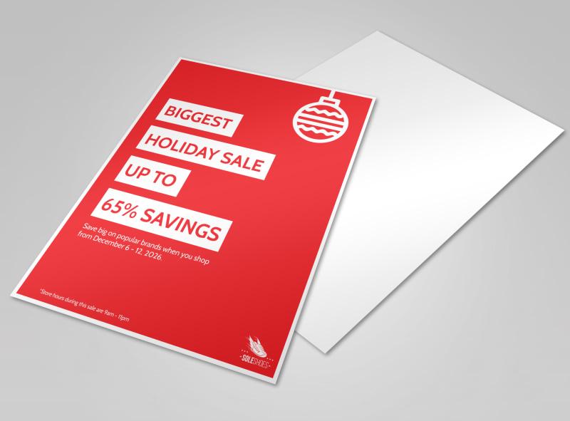 Red Color Sales Flyer