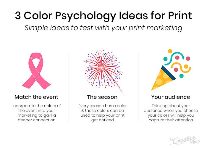 3 Color Psychology Ideas for Print