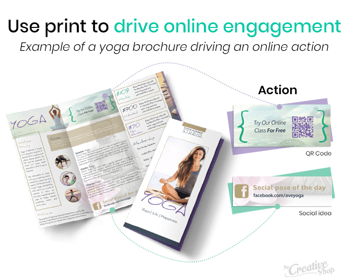 Print to online engagement