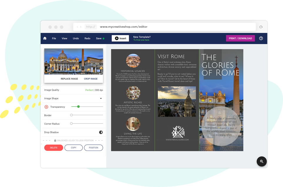 Create A Travel Brochure Online