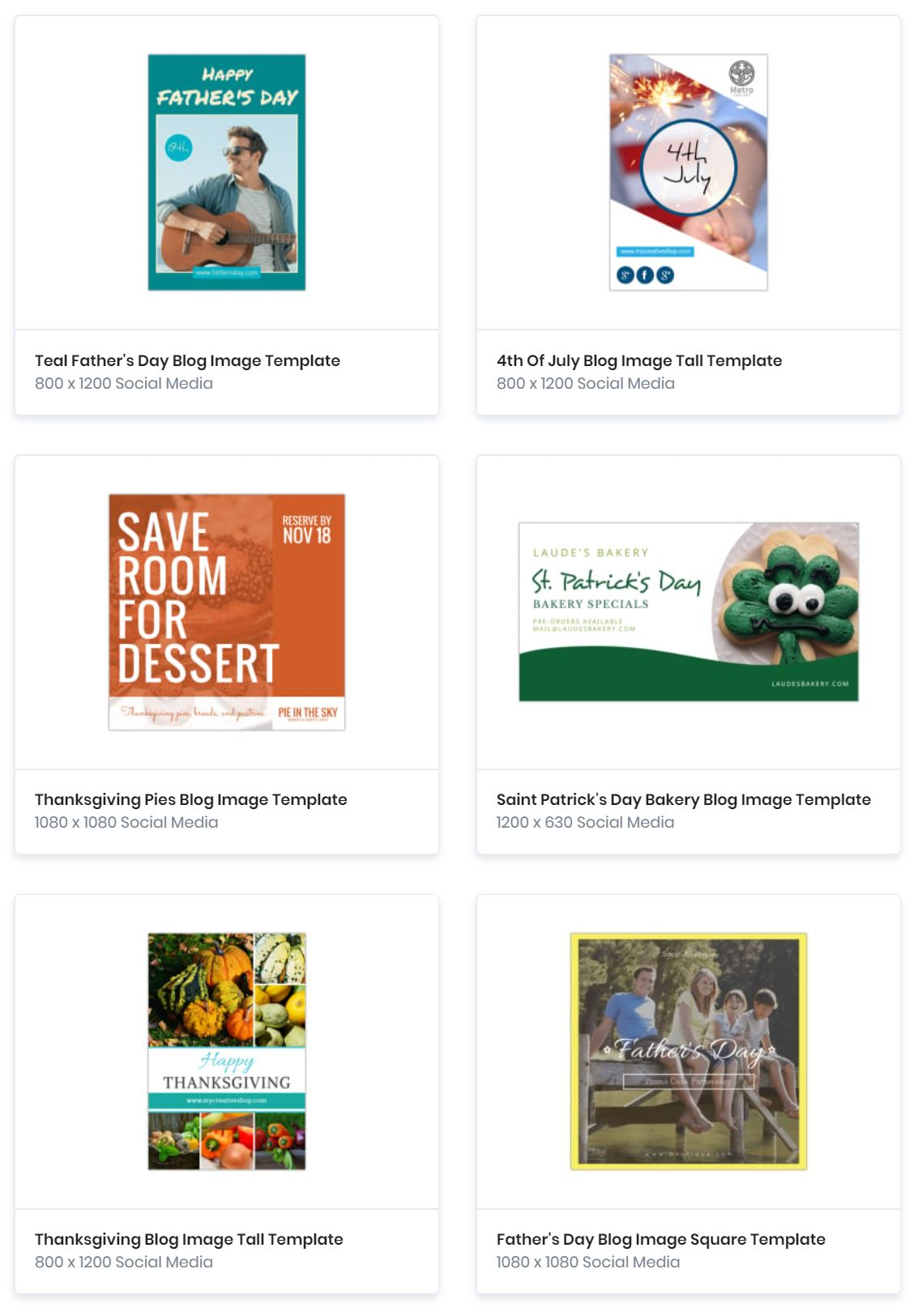 Blog Templates Catalog