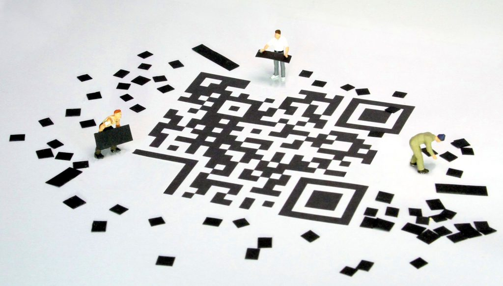 QR Code Building Graphic