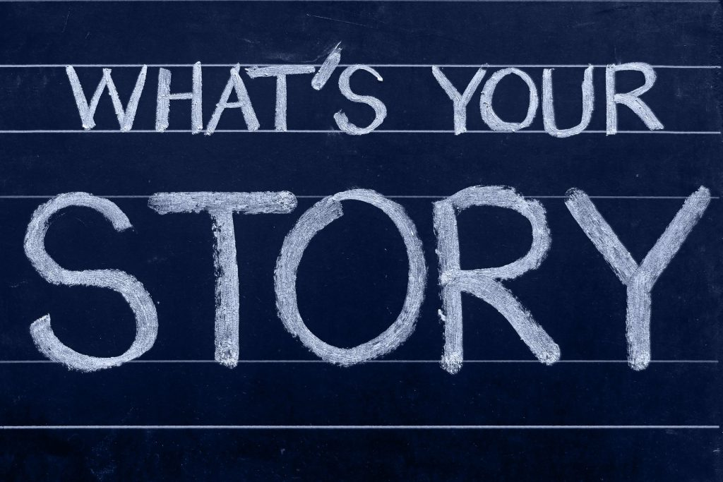 What's Your Story Chalkboard
