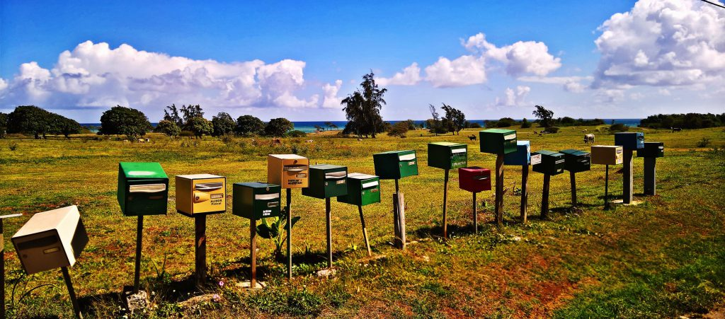 Caribbean mailboxes