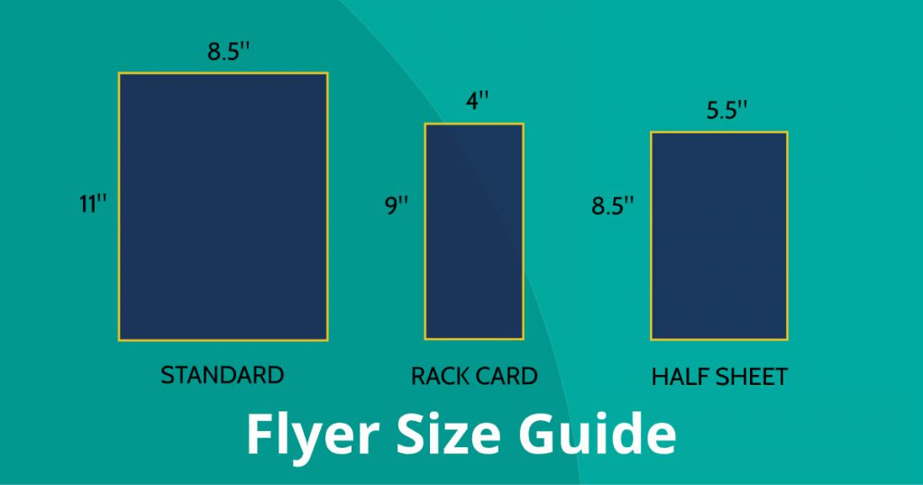 Flyer Size Guide Graphic