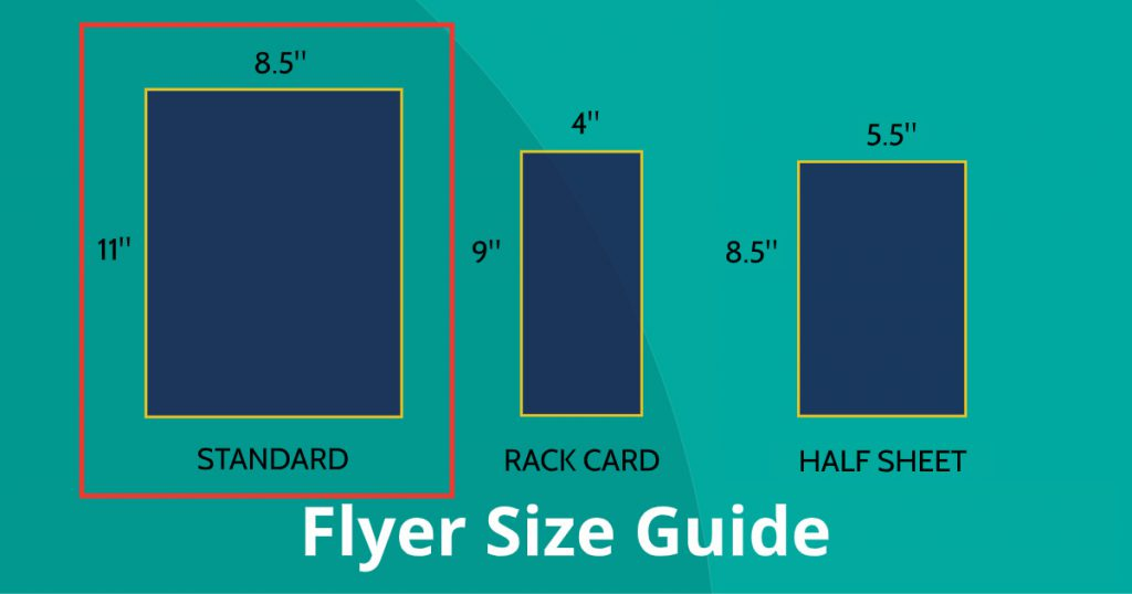 Flyer Size Guide Graphic - Standard Flyer