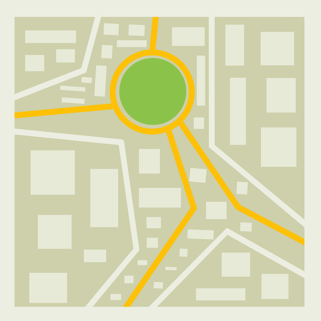 City Map Graphic Comprehensive focus on your target neighborhood is key.