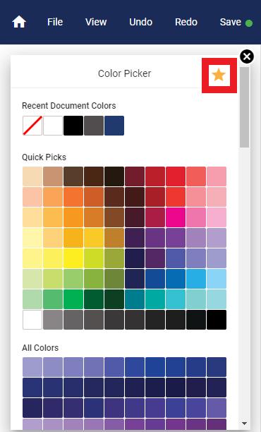 Color Favorites Graphic