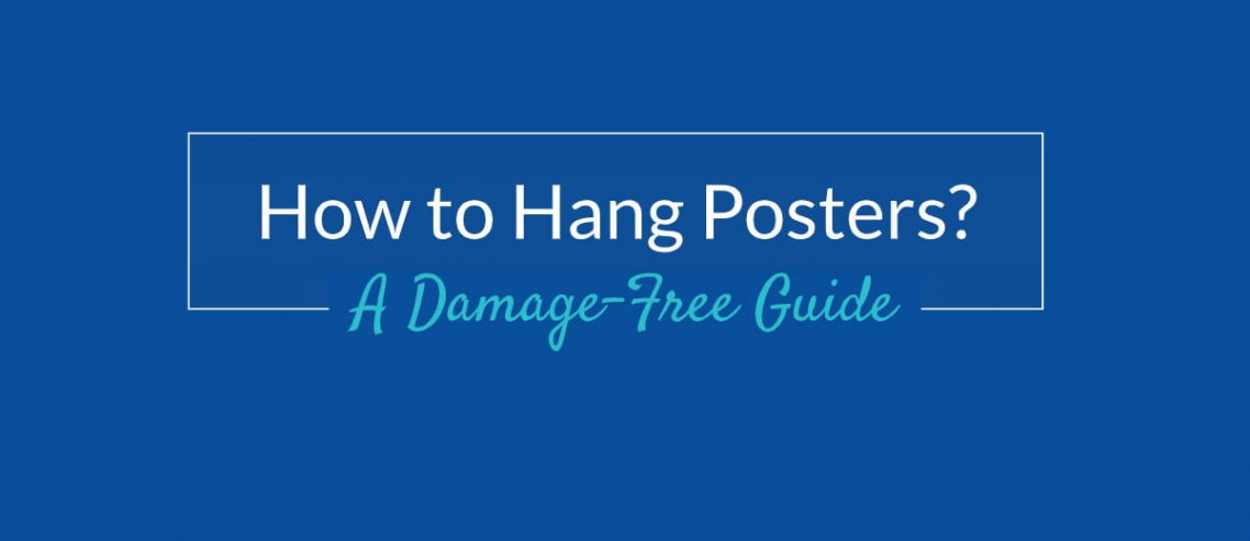 How to hang posters