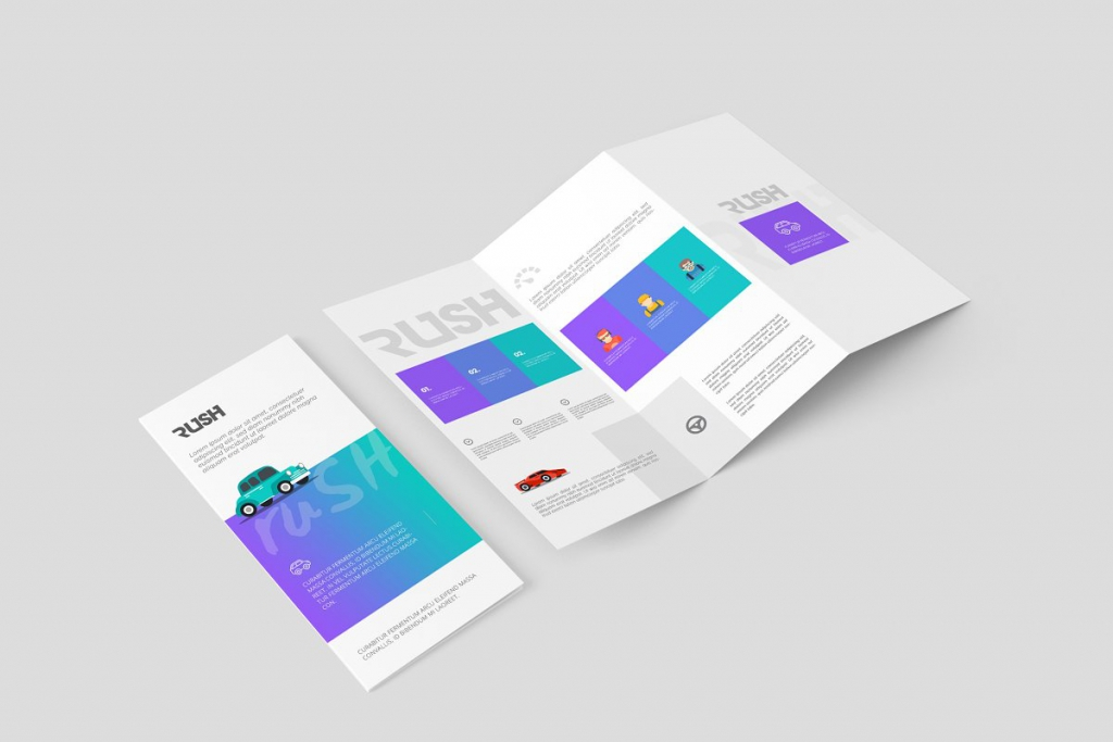 A4 Z-Fold Brochure Mock-Up by ToaSin Studio