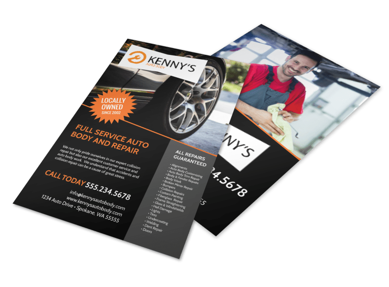Auto Body Repair Flyer Template