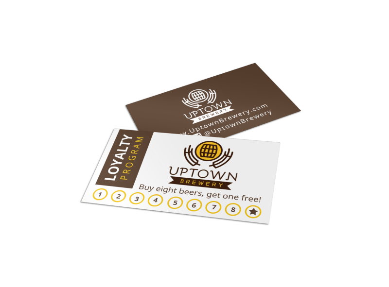 Brewery Loyalty Card Template
