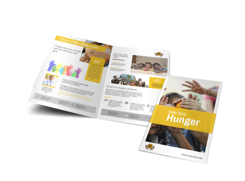 Charity Bi-Fold Brochure Template