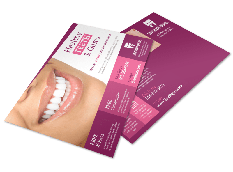 Dental Clinic Postcard Template