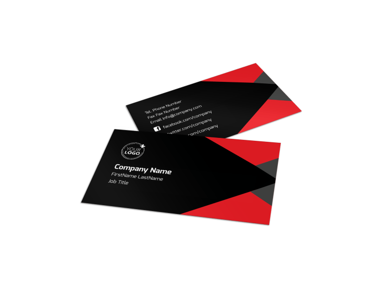 Geometric Financial Analyst Business Card Template