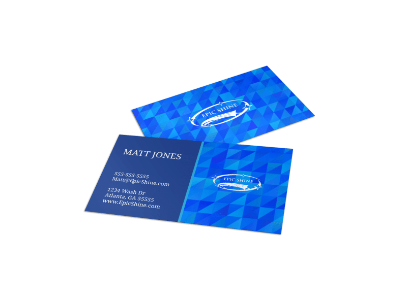Geometric House Cleaning Business Card Template
