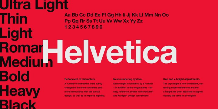 Helvetica by Linotype