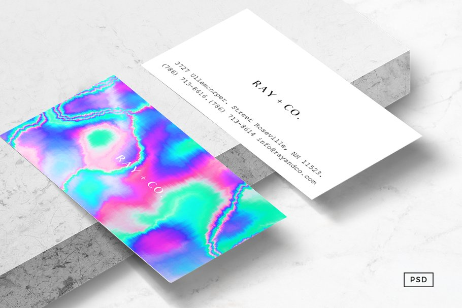 Holographic Business Card Template by 8 3 O