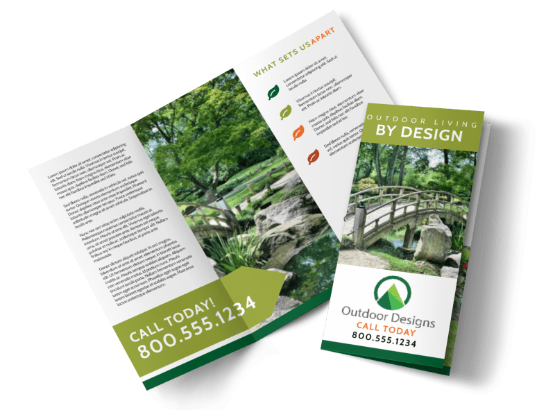 Landscaping Tri-Fold Brochure Template