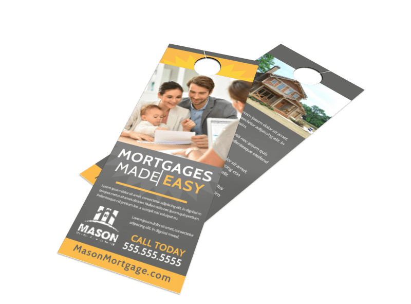 Mortgage Easy Door Hanger Template