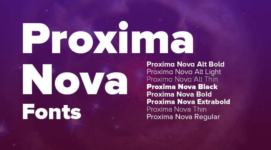 Proxima Nova by Mark Simonson